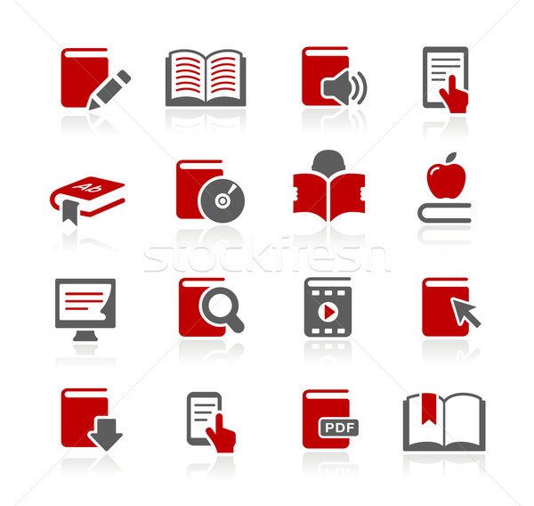 Libro iconos vector web impresión proyectos Foto stock © Palsur