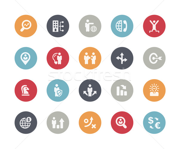 Icons Set of Business Strategy and Management // Classics Series Stock photo © Palsur