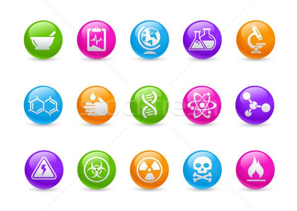 Nauki tęczy zawodowych ikona stronie prezentacji Zdjęcia stock © Palsur
