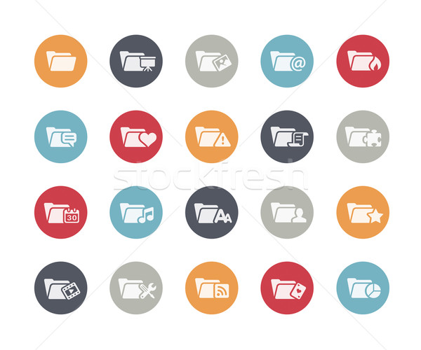 Folder Icons Set 2 of 2 // Classics Series Stock photo © Palsur