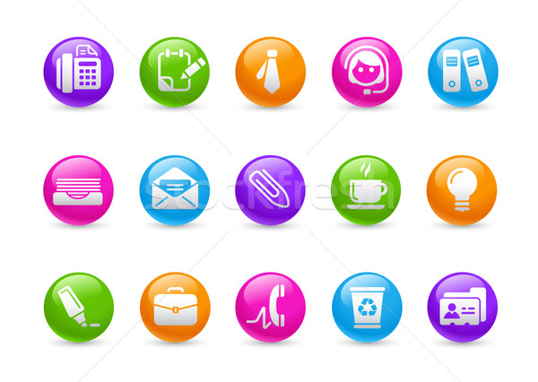 Сток-фото: служба · бизнеса · радуга · профессиональных · иконки · сайт