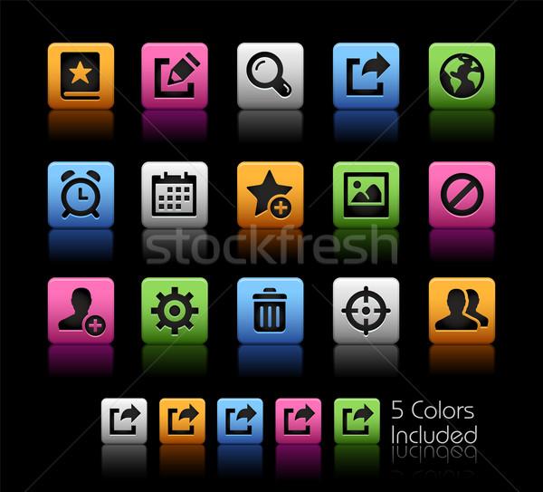 Comunicação interface ícones vetor arquivo cor Foto stock © Palsur