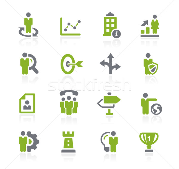 Business Strategies Icons // Natura Series Stock photo © Palsur