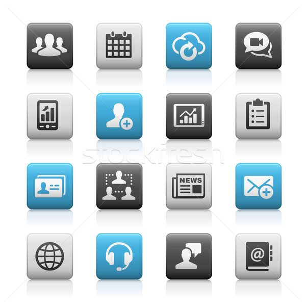 Business Technology Icons - Matte Series Stock photo © Palsur