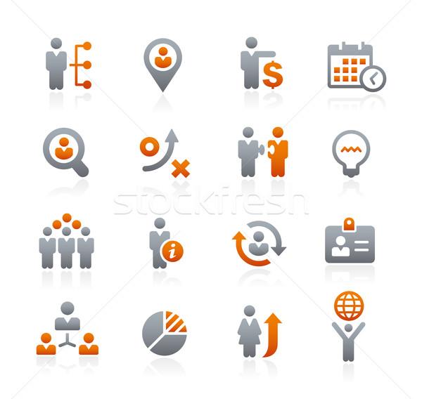 Business strategieën grafiet vector iconen digitale Stockfoto © Palsur