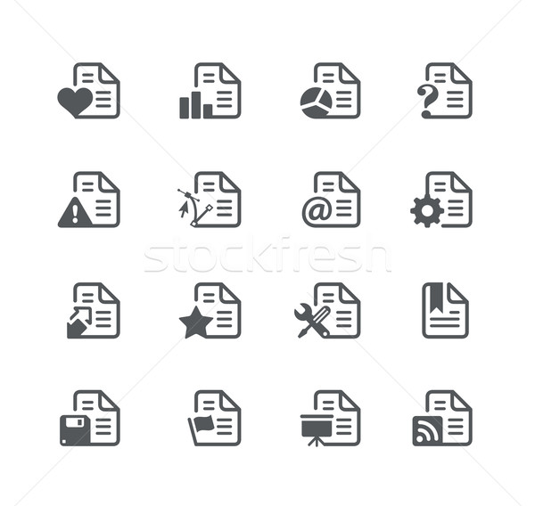 Documents Icons 2 -- Utility Series Stock photo © Palsur