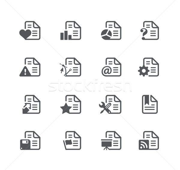 Documents icônes utilitaire vecteur numérique imprimer Photo stock © Palsur