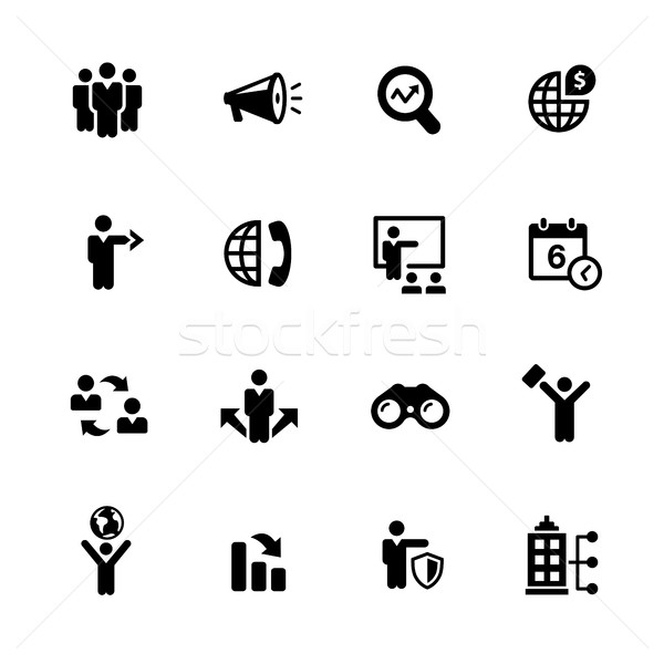 Business Opportunities Icons // Black Series Stock photo © Palsur