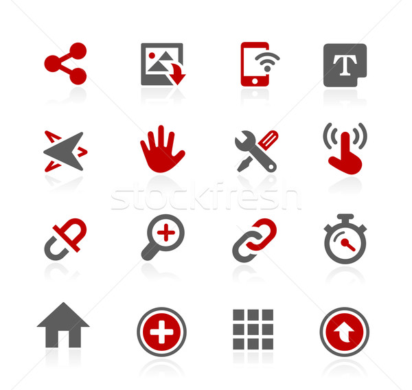 System Interface Vector Icons - Redico Series Stock photo © Palsur