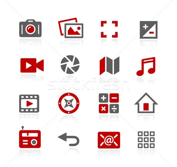 Media interface vector iconen web software Stockfoto © Palsur