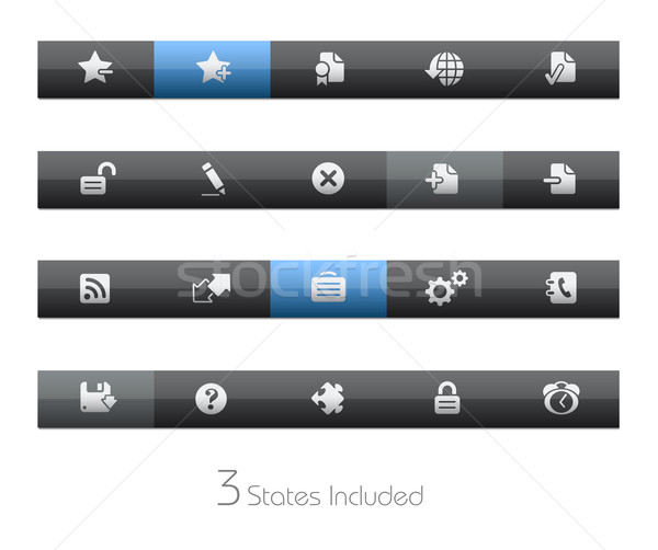 Web 20 vecteur fichier boutons différent Photo stock © Palsur