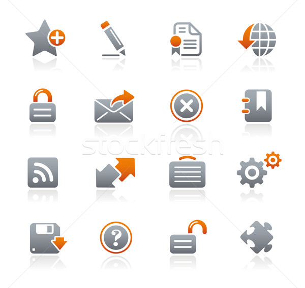 Web 2.0 Icons// Graphite Series Stock photo © Palsur