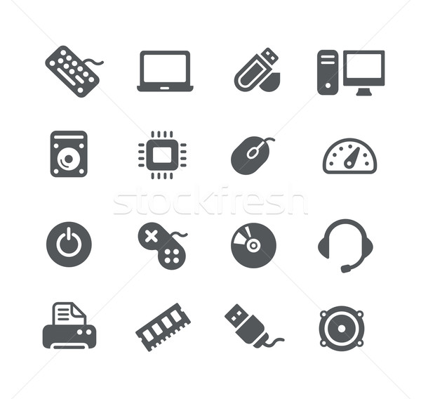 Computer components Icons -- Utility Series Stock photo © Palsur