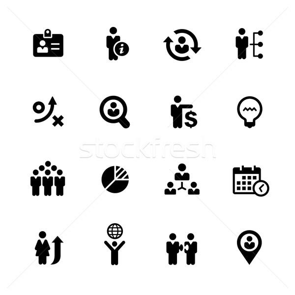 Efficient Business Icons // Black Series Stock photo © Palsur