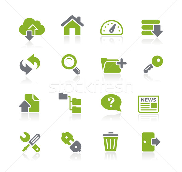 Hosting iconen groene vector web Stockfoto © Palsur