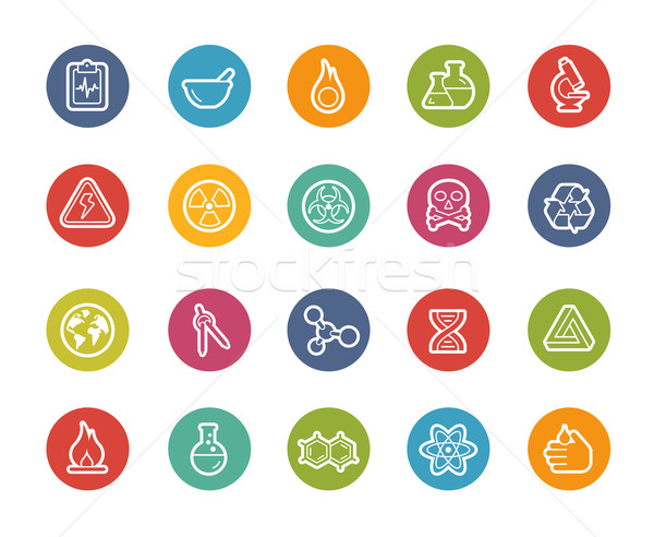 Science Icons // Printemps Series Stock photo © Palsur