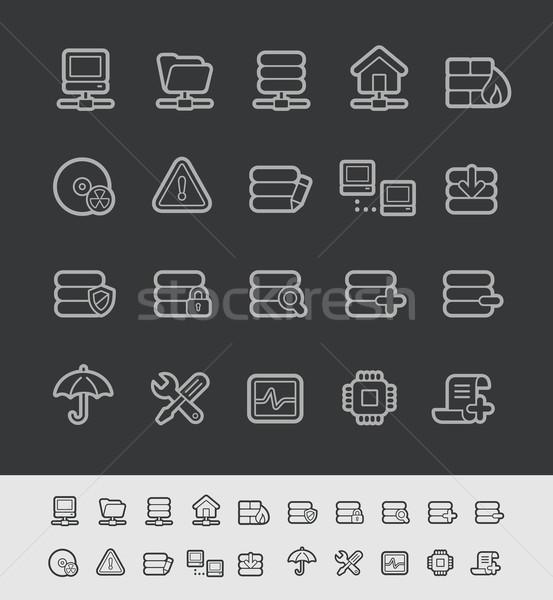 Server Icons -- Black Line Series Stock photo © Palsur