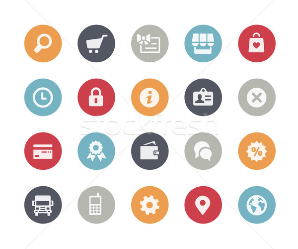 Online Store Icons // Classics Series Stock photo © Palsur