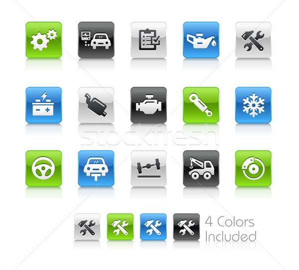 автомобилей службе иконки чистой вектора файла Сток-фото © Palsur