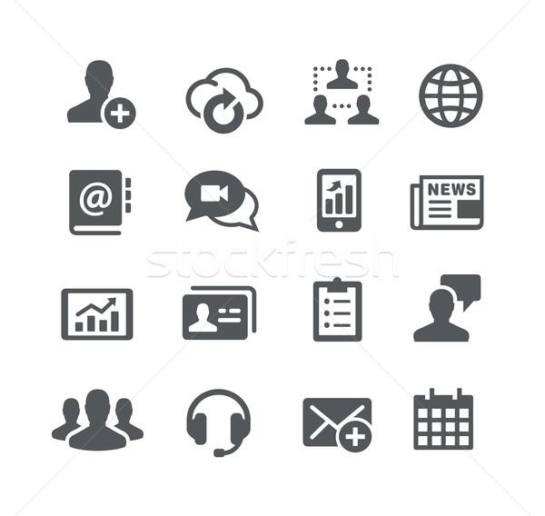 Negócio comunicações ícones utilidade vetor digital Foto stock © Palsur