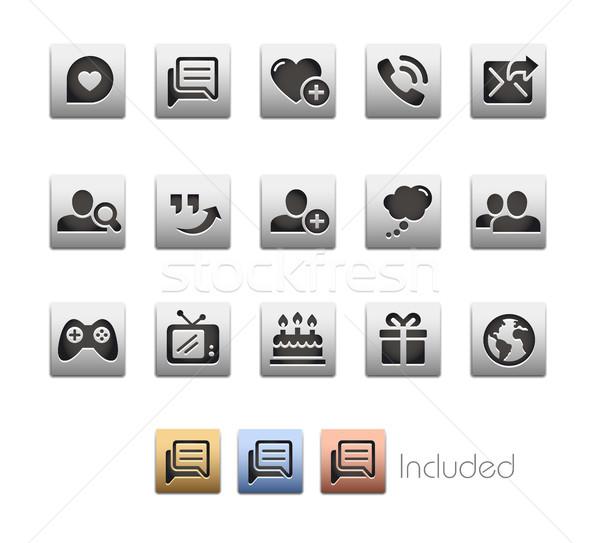 Społecznej komunikacja wektora pliku eps Zdjęcia stock © Palsur