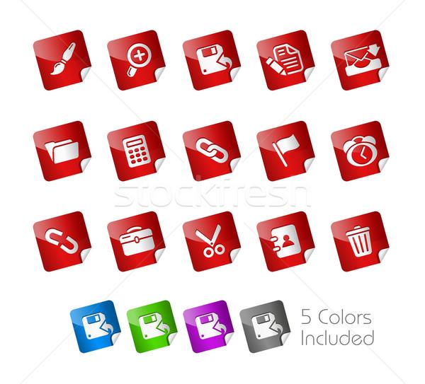 Foto stock: Teia · interface · adesivo · eps · arquivo · cor