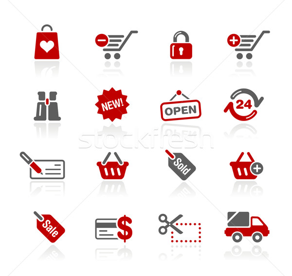 Shopping Icons // Redico Series Stock photo © Palsur