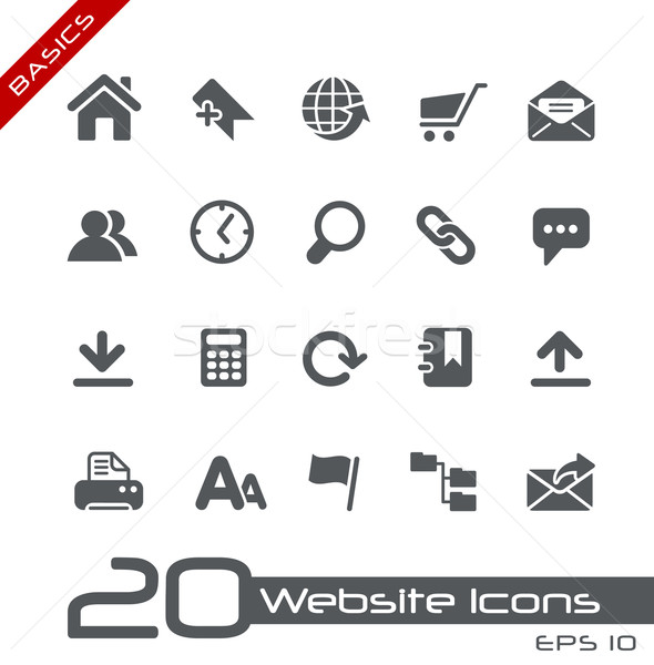 Website Icons // Basics Stock photo © Palsur
