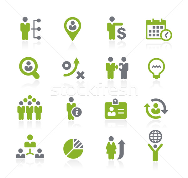 Human Resources Icons // Natura Series Stock photo © Palsur
