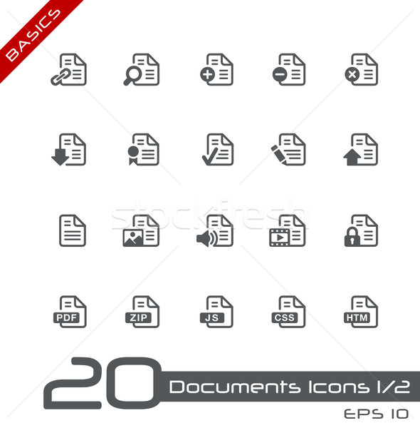 Documenten iconen ingesteld vector Stockfoto © Palsur