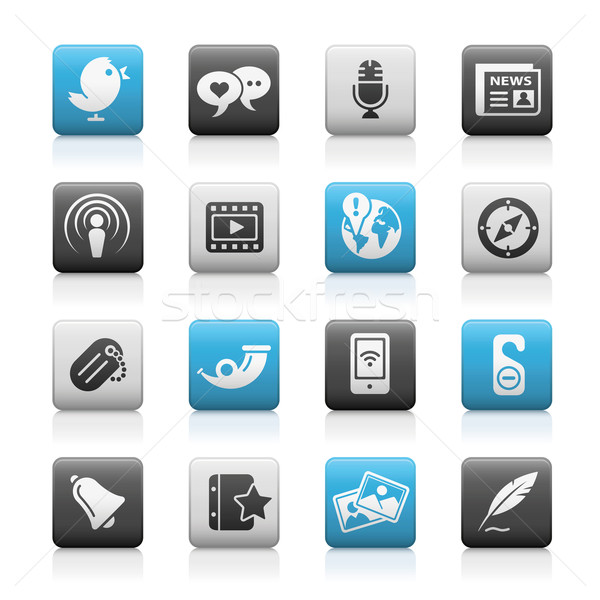 Social Media Web Icons // Matte Series  Stock photo © Palsur