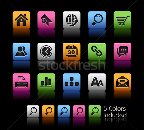 Web Site & Internet // Color Box Series Stock photo © Palsur