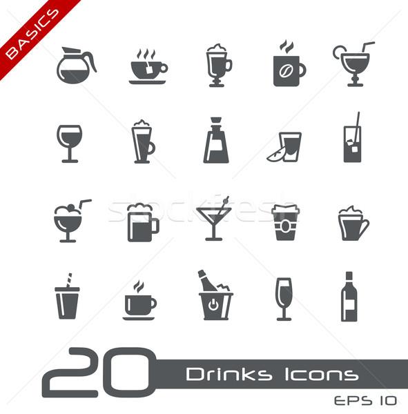 Drinks Icons -- Basics Stock photo © Palsur