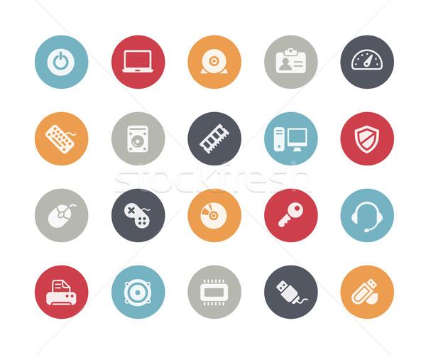 ícones do computador vetor ícones teia móvel impressão Foto stock © Palsur