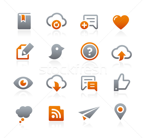 Web and Mobile Icons 8 -- Graphite Series Stock photo © Palsur