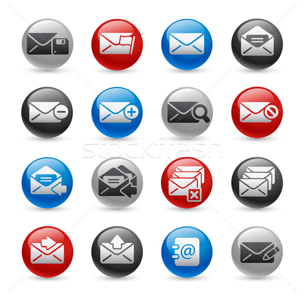 E-mail Icons -- Gel Pro Series Stock photo © Palsur