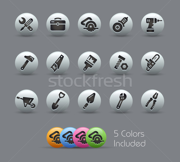 Tools Icons -- Pearly Series Stock photo © Palsur