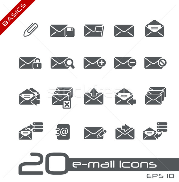 E-mail iconen vector web Stockfoto © Palsur