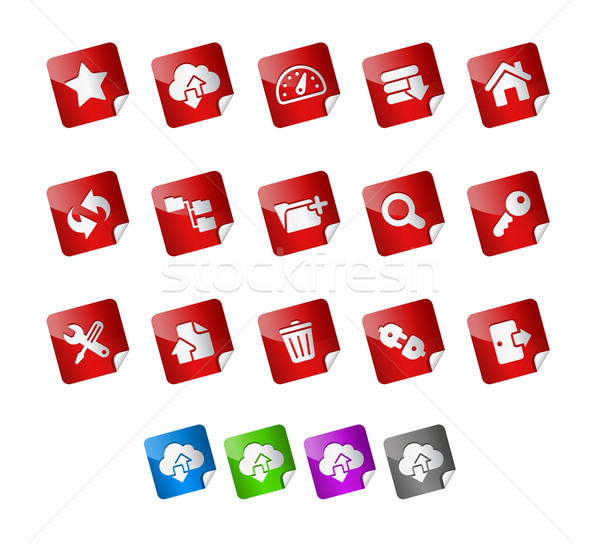 Hosting Icons -- Stickers Series Stock photo © Palsur