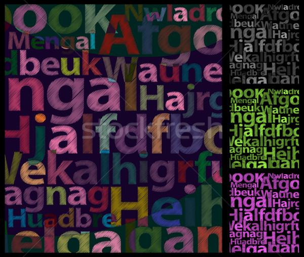 Renk harfler kaba seçenekleri can değiştirmek Stok fotoğraf © Palsur