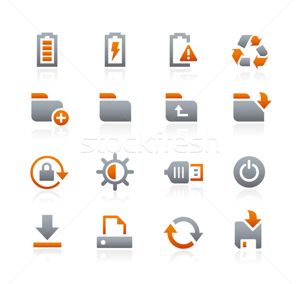 Stock photo: Web and Mobile Icons 3 -- Graphite Series