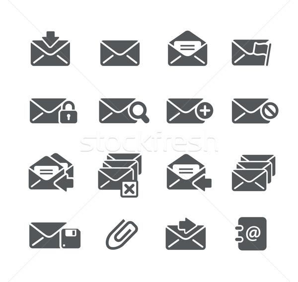 E-mail iconen utility vector digitale print Stockfoto © Palsur