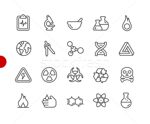 Science Icons // Red Point Series Stock photo © Palsur