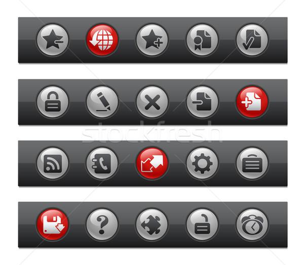 Web 20 bouton bar professionnels icônes Photo stock © Palsur