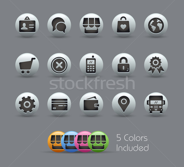 Online Store Icons // Pearly Series Stock photo © Palsur