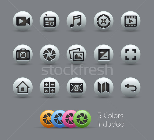 Media Interface Icons  -- Pearly Series Stock photo © Palsur