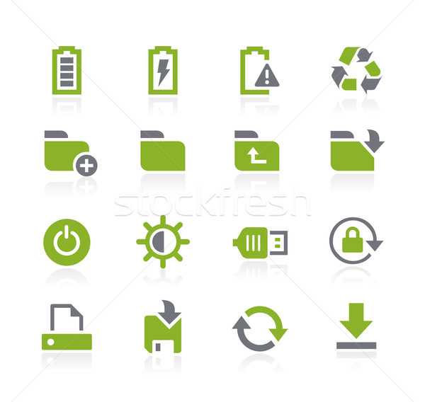 Energy and Storage Icons // Natura Series Stock photo © Palsur