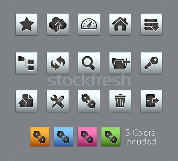 Ftp хостинг иконки вектора файла цвета Сток-фото © Palsur