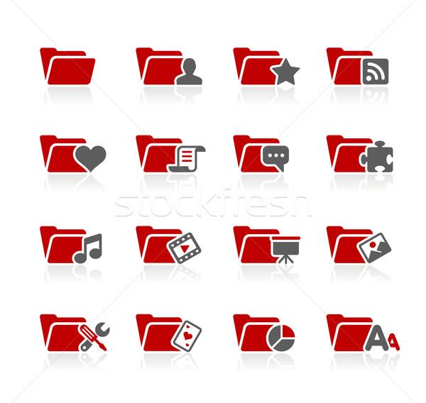 Сток-фото: папке · иконки · вектора · веб · печати