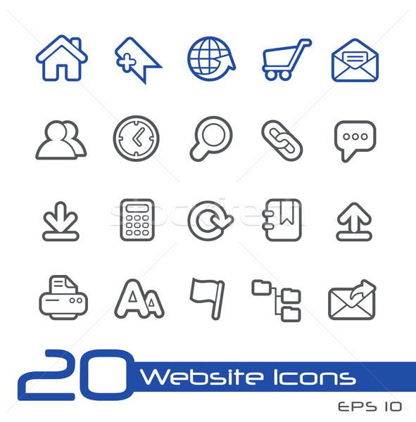 Website Icons // Line Series Stock photo © Palsur